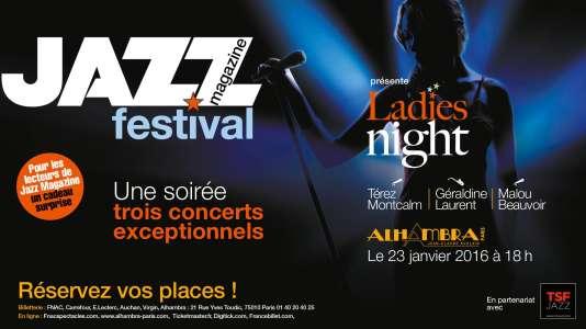 Affiche du spectacle Ladies Night, à L'Alhambra.