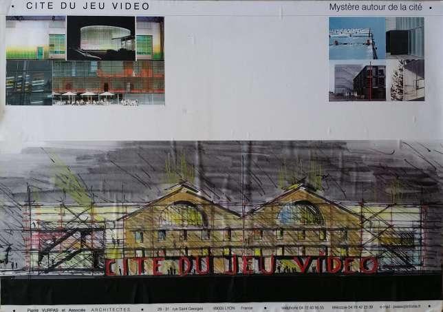 Plan de la façade de ce qui devait devenir la Cité du jeu vidéo.