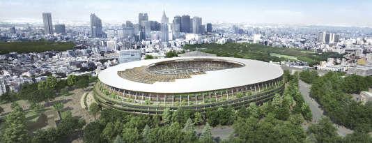 Le futur stade de Tokyo, selon l'architecte Kengo Kuma : ce projet a été retenu par les autorités nippones en décembre.