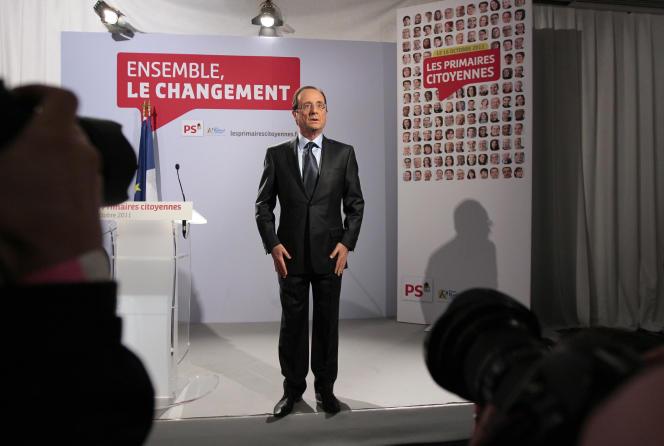 Francois Hollande, vainqueur de la primaire à gauche, le 16 octobre 2011.