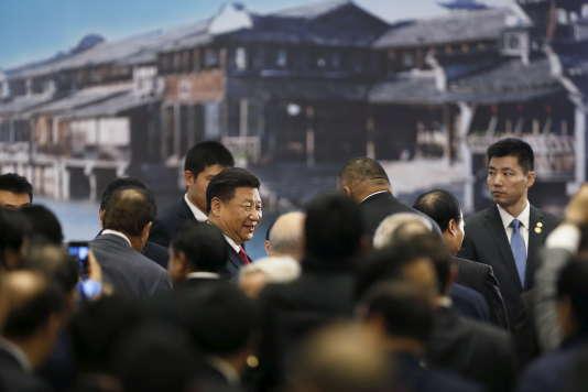 Le président Xi Jinping inaugure la 2e conférence internationale sur Internet, à Wuzhen, en décembre 2015.
