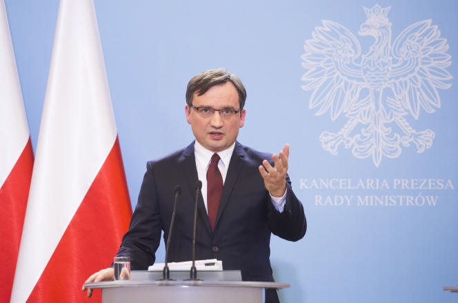 Le ministre de la justice polonais, à Varsovie en décembre 2015.
