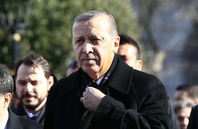 Le Président turc Recep Tayyip Erdogan le 15 Janvier 2016.