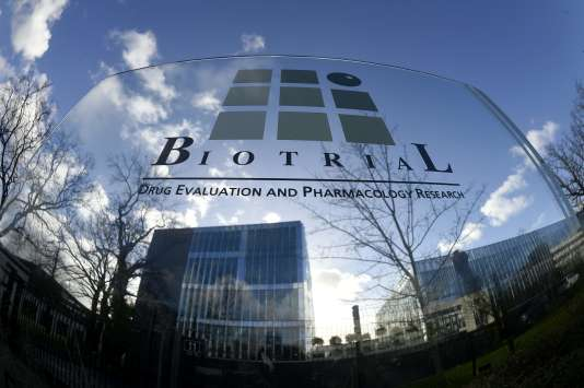 Le laboratoire Biotrial, à Rennes, le 15 janvier 2016.