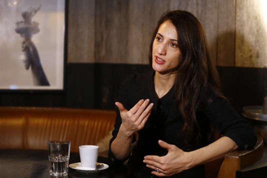 La réalisatrice franco-turque  Deniz Gamze Ergüven à paris, le 15 janvier 2016.