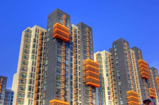 Immeubles d'appartements dans la ville de Tianjin.