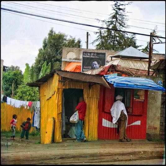 Une rue d'Addis Abeba.