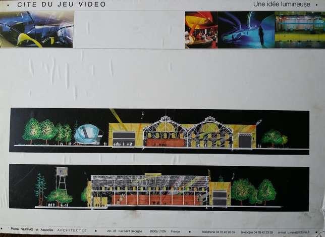 La cité du jeu vidéo, telle qu'elle aurait pu être selon ses organisateurs. A la place, un multiplex Pathé a vu le jour à Lyon.