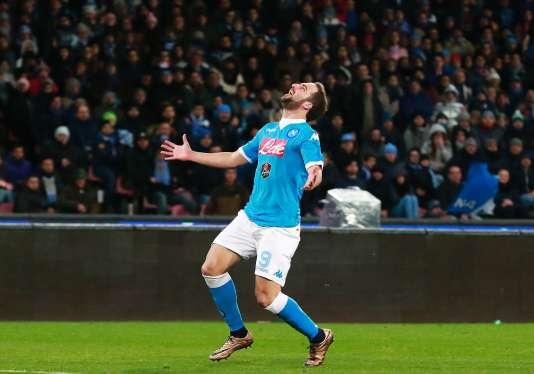 L'attaquant argentin de Naples Gonzalo Higuain, le 16 janvier 2016.