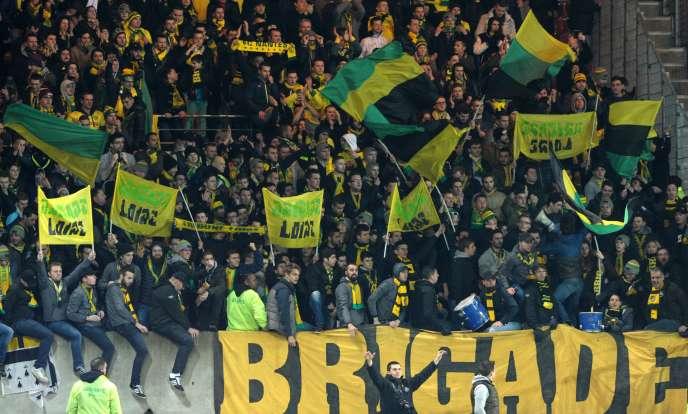 Les supporteurs nantais, samedi 16 janvier, à Guingamp.