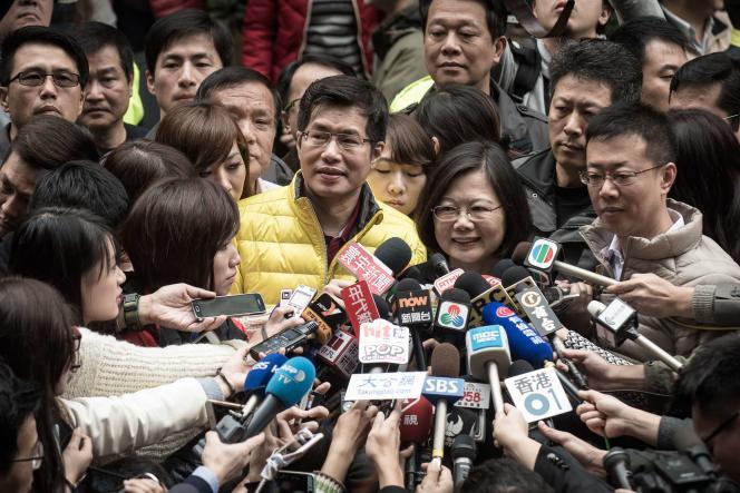 Tsai Ing-wen, la candidate du DPP (Parti progressiste démocratique), le 16 janvier à Taipei.
