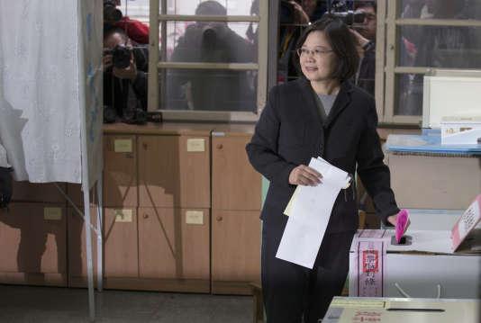 La candidate de l'opposition, Tsai Ing-wen, est la grande favorite.