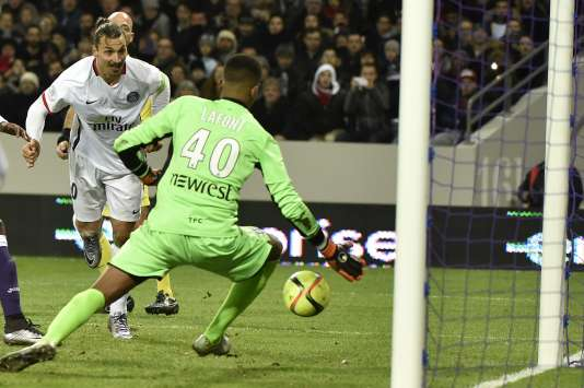 """But libérateur d'""""Ibra"""" à la 73e minute face à Toulouse, samedi 16 janvier, lors de la 21e journée de Ligue 1."""