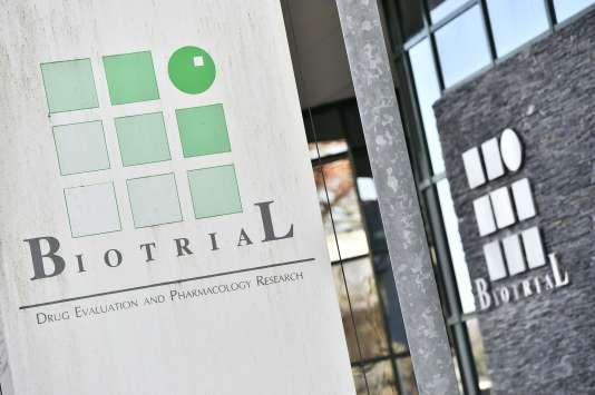 Les bâtiments du laboratoire Biotrial à Rennes, le 16 janvier 2016.