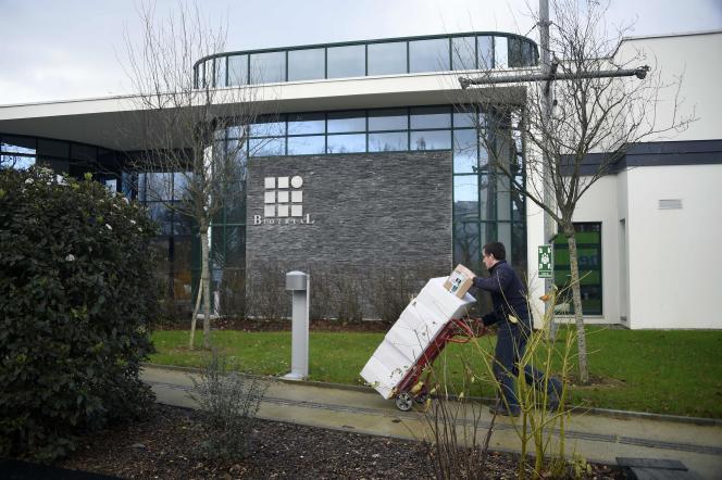 Le bâtiment du laboratoire Biotrial, à Rennes, le 15 janvier 2016.
