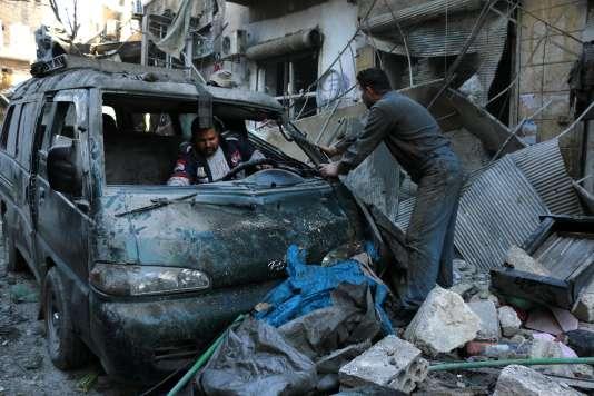 Après un raid sur Alep, le 16 janvier.