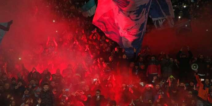 Des supporteurs de Naples, le 16 janvier.