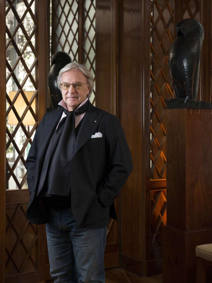 Diego Della Valle, patron de Tod's dans ses bureaux de Milan, le 22 décembre 2015.