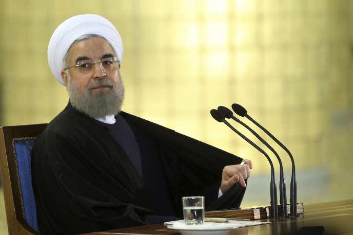 Le président iranien, Hassan Rohani, le 17 janvier à Téhéran.