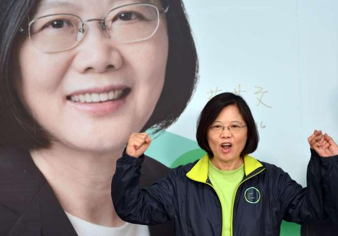 Tsai Ing-wen, à Kaohsiung (Taiwan), le 9 janvier.