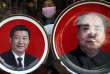 Xi Jinping (à gauche) et Mao Zedong (à droite). Ces deux figures représentent les difficultés auxquelles la nouvelle Présidente de Taïwan  Tsai Ying-wen sera confrontée quant aux relations de Taïwan avec la Chine.