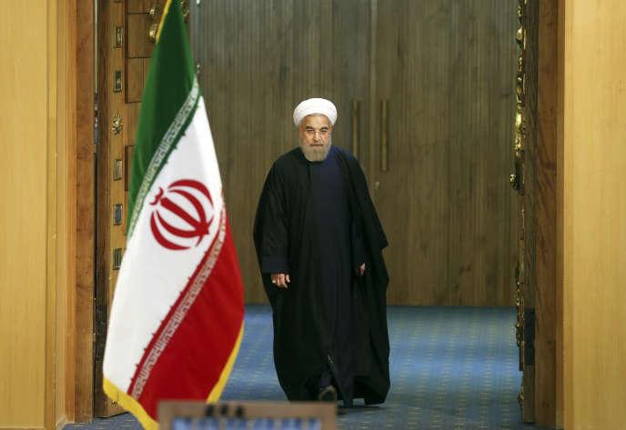 Le président iranien, Hassan Rohani, à Téhéran, le 17 janvier 2016.