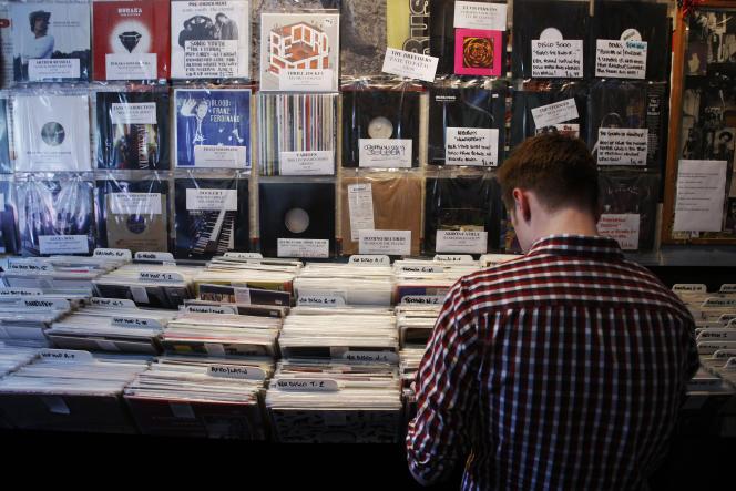 Un des quatre magasins londoniens de Rough Trade, en avril 2009.