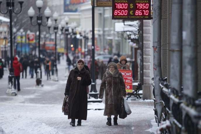 Dans les rues de Moscou, lundi 18 janvier.