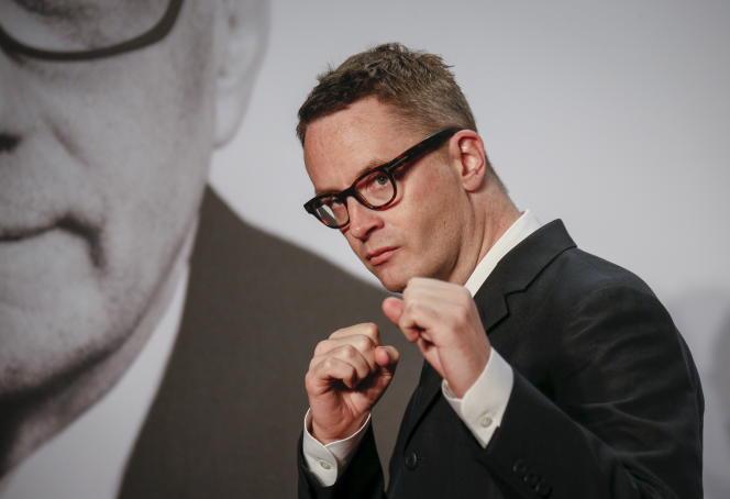 Le réalisateur danois Nicolas Winding Refn lors du Festival Lumière à Lyon, le 12 octobre 2015.