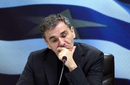 Le ministre grec des finances Euclide Tsakalotos, le 18 janvier 2016.