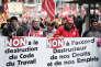 A une manifestation, à Strasbourg, contre la réforme du code du travail donnant plus de flexibilité aux employeurs, en avril 2013.