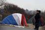Dans le camp de migrants de Calais le 18 janvier.