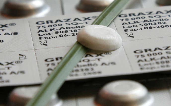 Les comprimés Grazax, du laboratoire ALK, permet de traiter les allergies aux graminées.