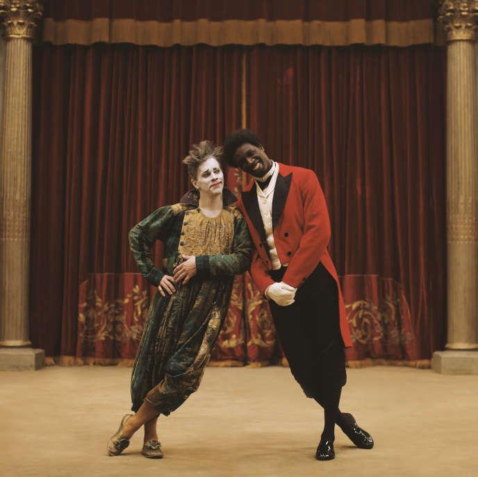 James Thierrée (Footit) et Omar Sy (Chocolat), dans «Chocolat», de Roschdy Zem.