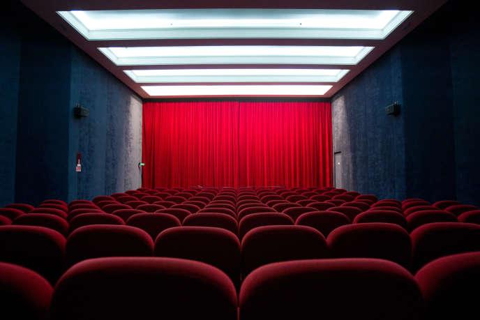 Une salle du cinéma Saint-André-des-Arts à Paris.