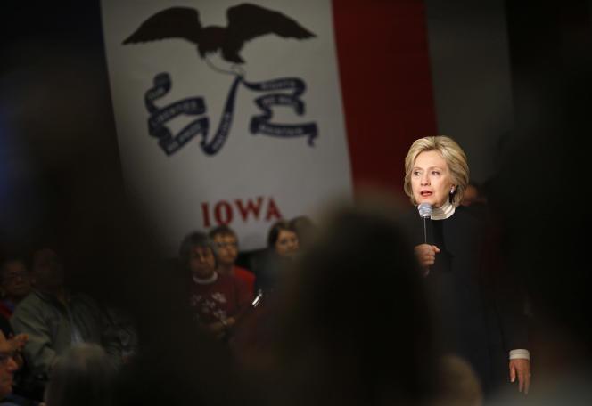 Hillary Clinton lors d'une réunion de campagne, le 18 janvier dans l'Iowa.