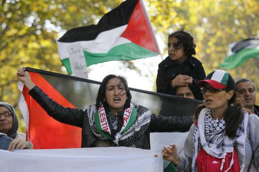 A une manifestation propalestinienne appelant au boycott des produits israéliens en octobre 2015 à Paris.
