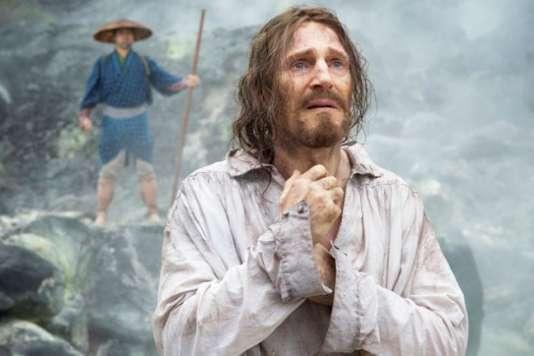 "Liam Neeson dans le film américain de Martin Scorsese, ""Silence""."