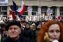 Manifestation pour des médias libres, à Varsovie, le 9 janvier