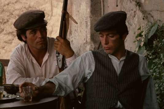 """Franco Citti et Al Pacino dans """"Le Parrain"""", de Francis Ford Coppola (1972)."""