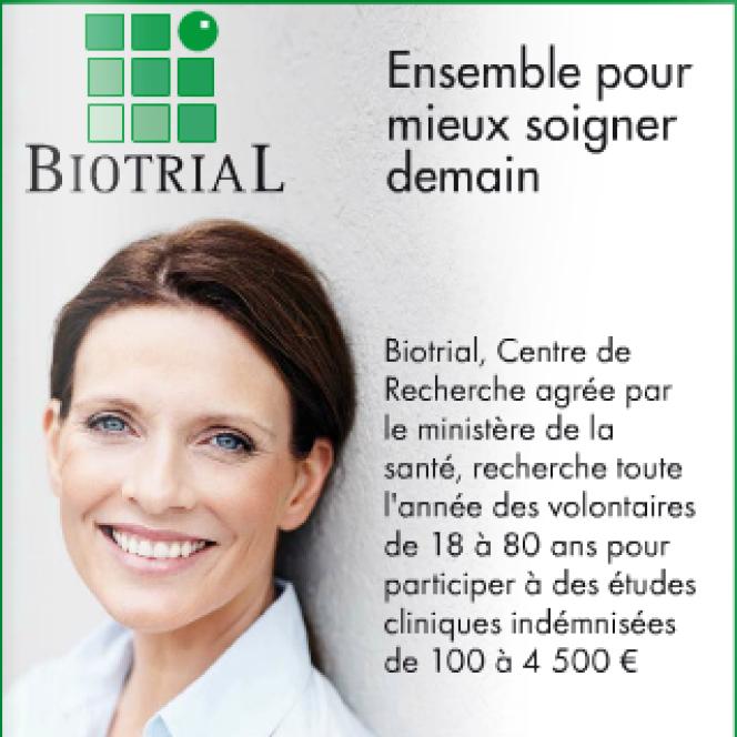 Publicité des laboratoires Biotrial.