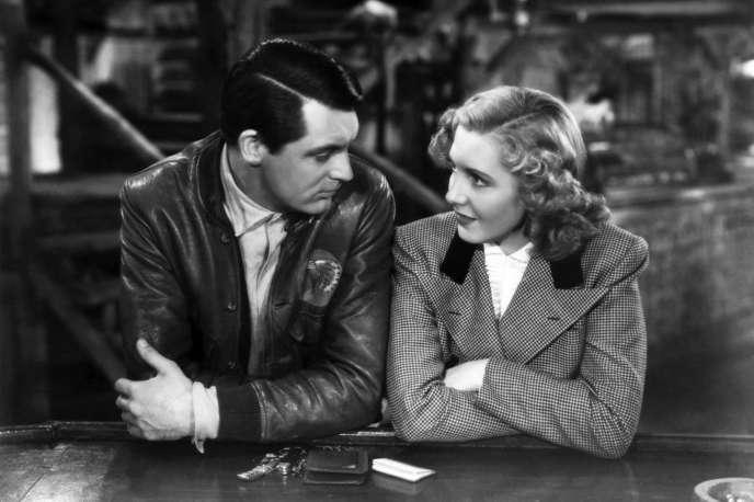 Cary Grant (Geoff Carter) et Jean Arthur (Bonnie) dans