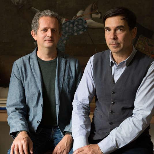Ivan Pericoli (à gauche) et Benoît Astier de Villatte.