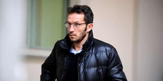 Ghislain Anselmini à son arrivée au tribunal, le 11 janvier.