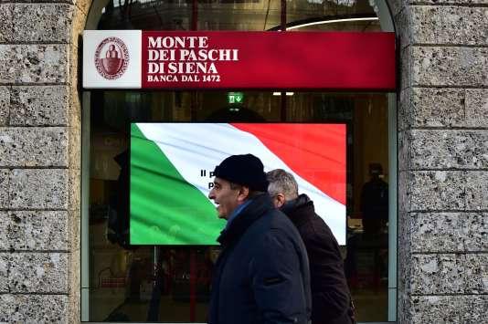L'action de la Banca Monte dei Paschi di Siena a chuté de 43,5 % depuis le 1er janvier.