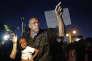 Manifestation à Ferguson, Missouri, en août 2015, pour l'anniversaire de la mort de Michael Brown, abattu par un policier.