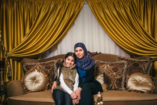 Nouhad Hammoud, originaire du Liban, et sa fille.