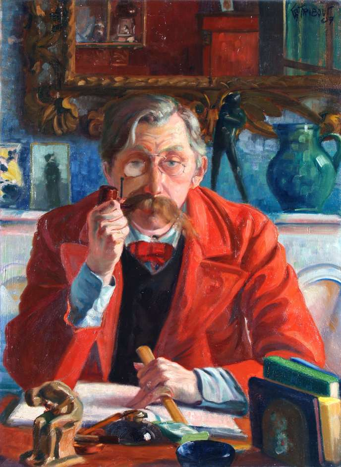 Portrait d'Emile Verhaeren par Georges Tribout (1884-1962), reproduit sur l'affiche de l'exposition au Musée des Avelines à Saint-Cloud.
