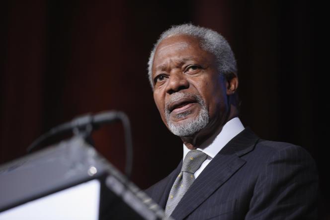 L'ancien secrétaire général des Nations unies, Kofi Annan, le 16 octobre 2012, à New York.