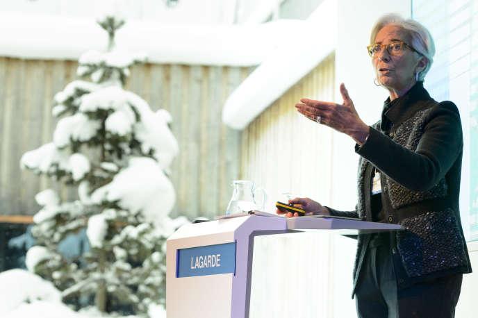 La directrice du FMI, Christine Lagarde, au sommet de Davos (Suisse), le 20 janvier.